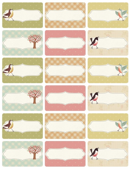 Sweet Birds Address Shipping Round Labels Free Printable