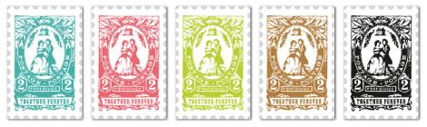 Wedding Postage Stamp Labels by Cathe Holden | Worldlabel Blog