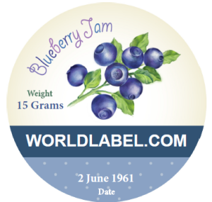 Canning labels for jams are in fillable PDF templates printable on ...