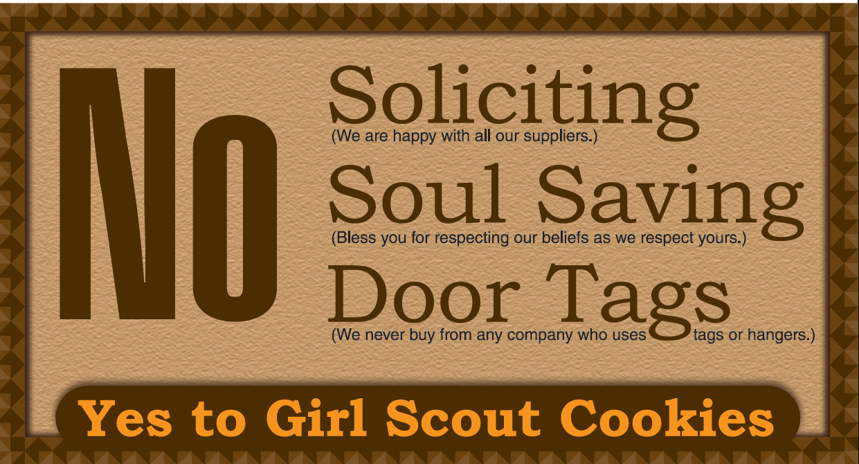 No Soliciting Door Sign Free Printable