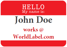 Name Badge Labels Worldlabel Blog - Name badge template with photo