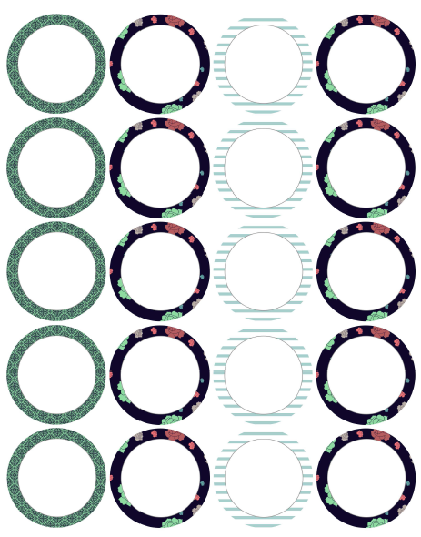 Effortless image for printable circle labels