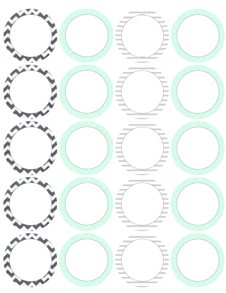 Dynamic image within round printable labels