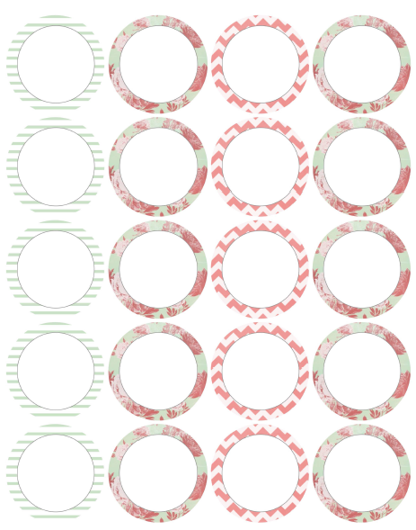 round square labels from lizzy s colle アンティーク