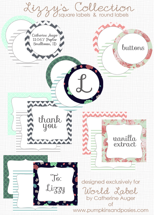 Download Designed Label Templates For Food Favors And Gifts