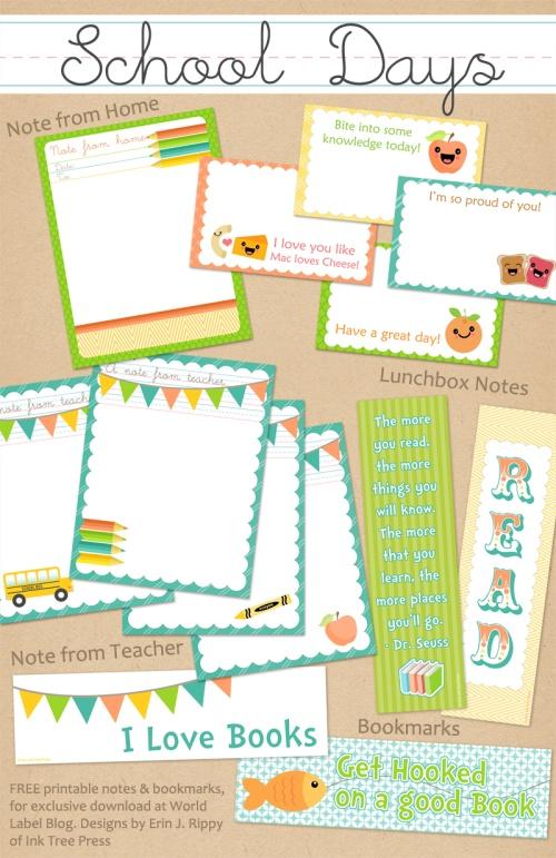 school days printables notes part 2 worldlabel blog