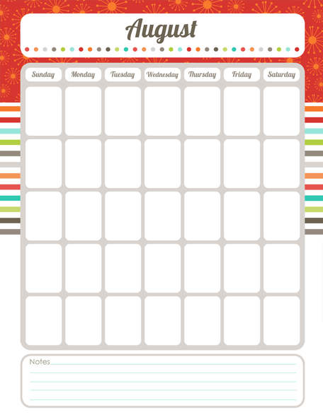 organizing calendar  the harmonized house project