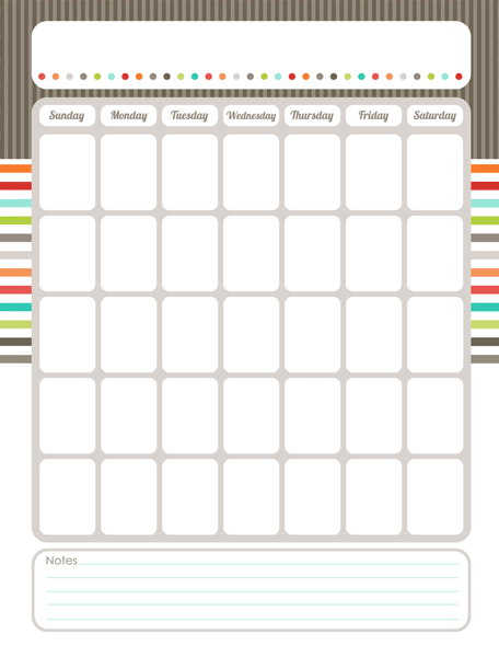 Weekly Calendar Worksheet : Organizing calendar the harmonized house project