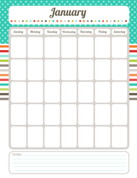 editable blank calendar template .