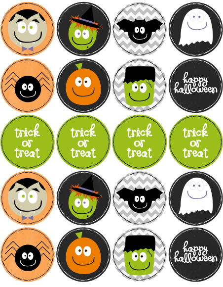 photograph about Halloween Stickers Printable named No cost Halloween Stickers / Labels Free of charge printable labels