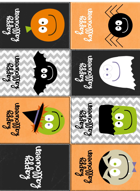 image regarding Halloween Stickers Printable called Absolutely free Halloween Stickers / Labels Free of charge printable labels