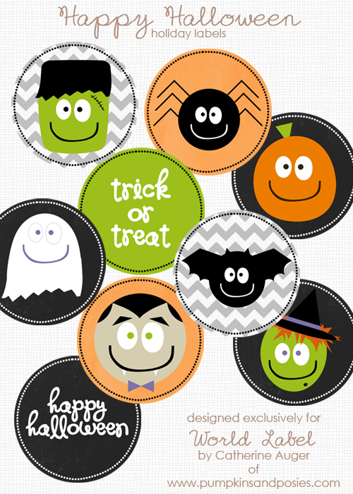 picture relating to Printable Halloween Labels known as Free of charge Halloween Stickers / Labels Cost-free printable labels