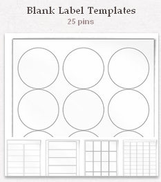 Blank label templates to print.