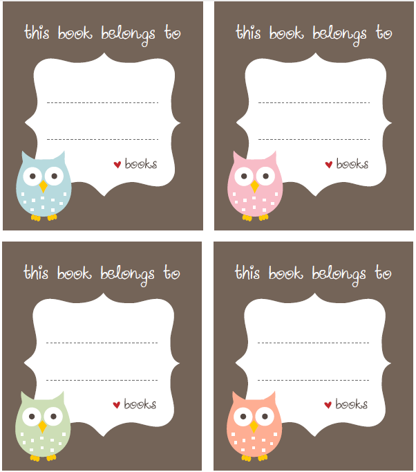 These Really Cute Bookplate Labels U201cthis Book Belongs Tou201d Are Free For  Download At MillyBee.com And Where Designed To Celebrate World Book Day.  Address Label Template Free