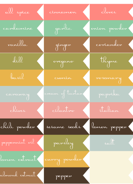 すべての講義 名前ラベル 素材 : Free Printable Spice Jar Labels Template