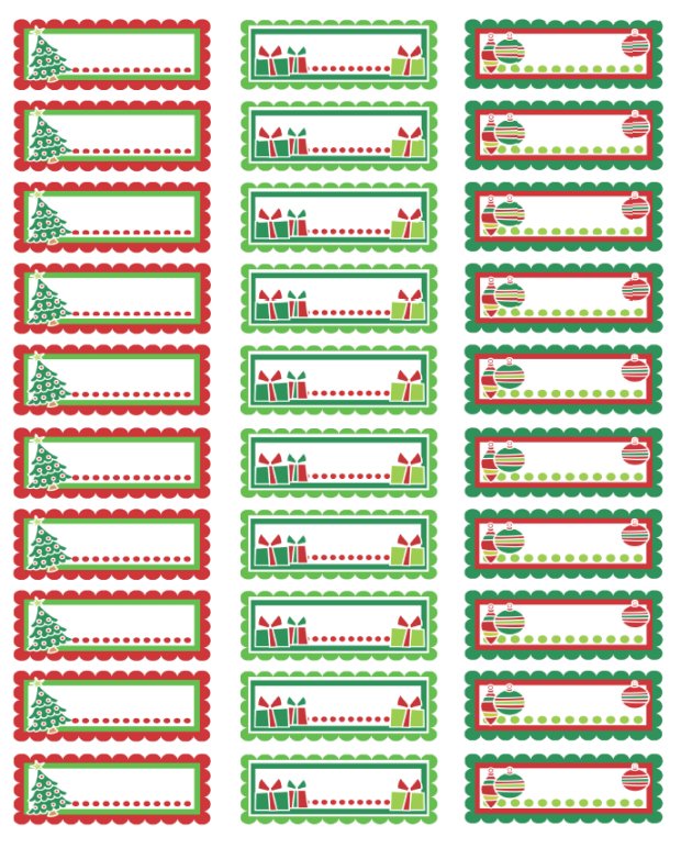 free christmas mailing label template
