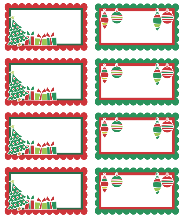 Versatile image throughout printable christmas labels