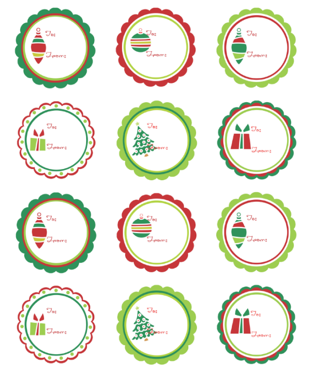Candid image for printable christmas stickers