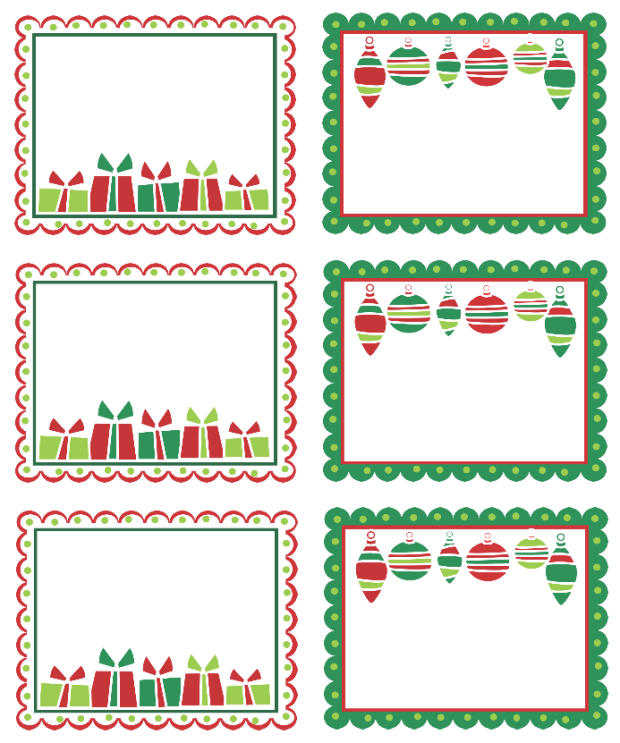 Christmas Labels Ready to Print – Shipping Label Templates