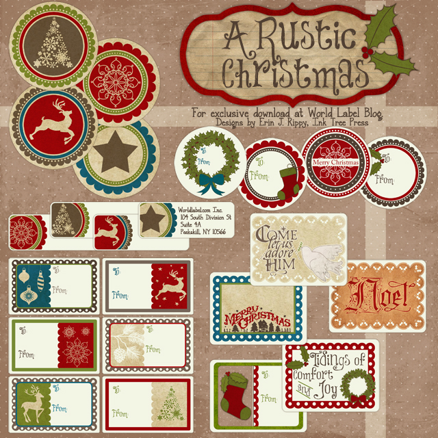 Christmas Label Templates | Worldlabel Blog - Part 3