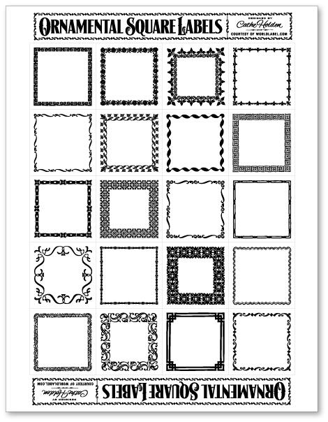 ornamental square labels by cathe holden worldlabel blog