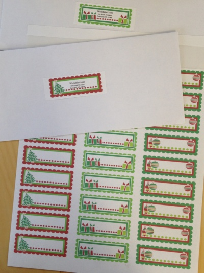 Christamas address label templates