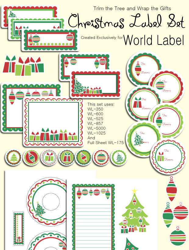 christmas and holiday labels
