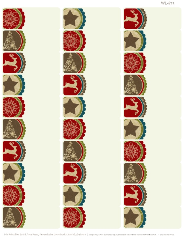 A Rustic Christmas Printable Label Set Worldlabel Blog