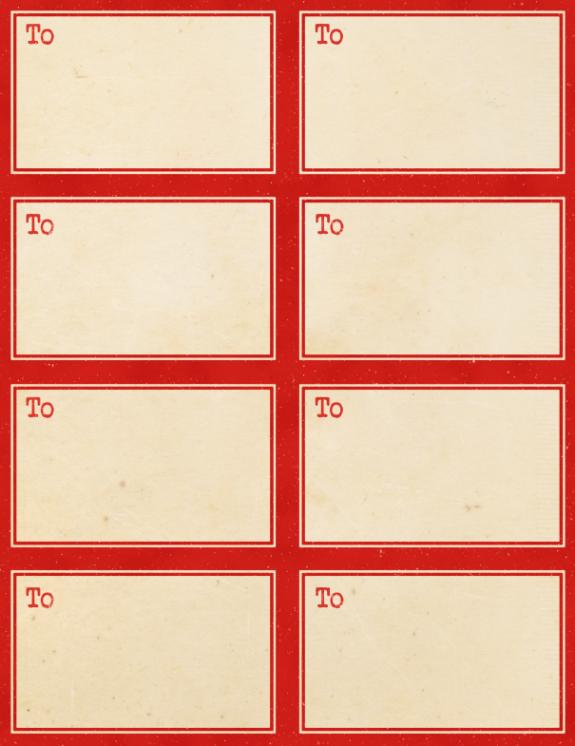 Printable Vintage Gummed Labels Inspired by Dennison | Free