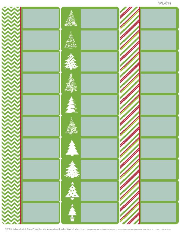 Free Printable Holiday Address Labels | Worldlabel Blog