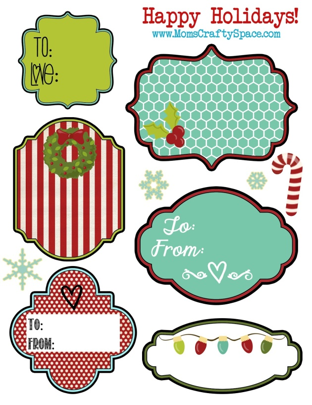 image about Printable Holiday Tags called Absolutely free Printable Getaway Reward Labels and Tags No cost printable