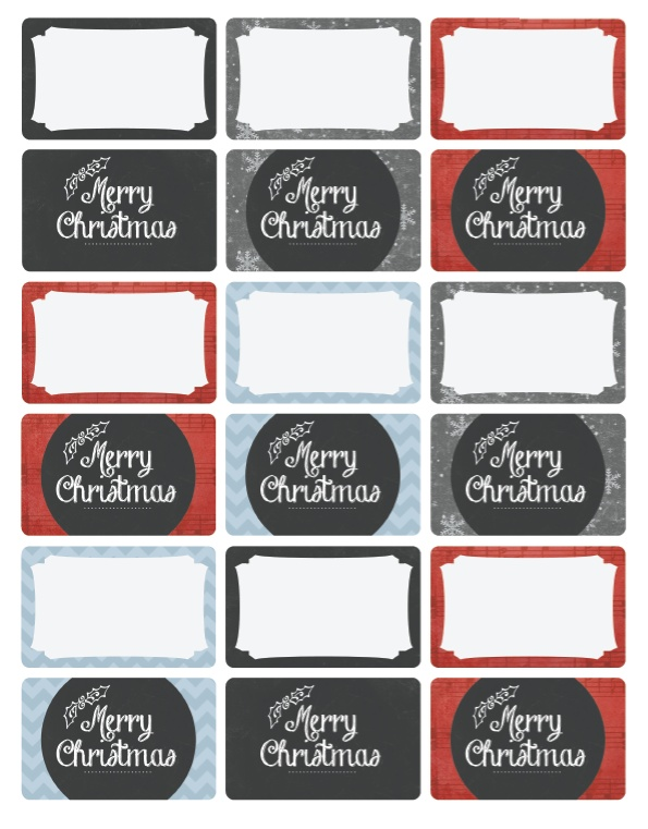 Round Christmas Address Labels