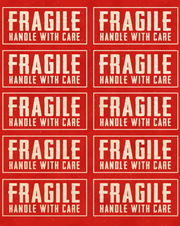 photograph regarding Fragile Glass Labels Printable titled Free of charge Printable Relocating Box Labels Es Condominium Households
