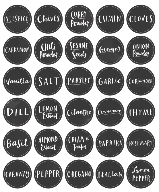 kitchen  spice jar  u0026 pantry organizing labels