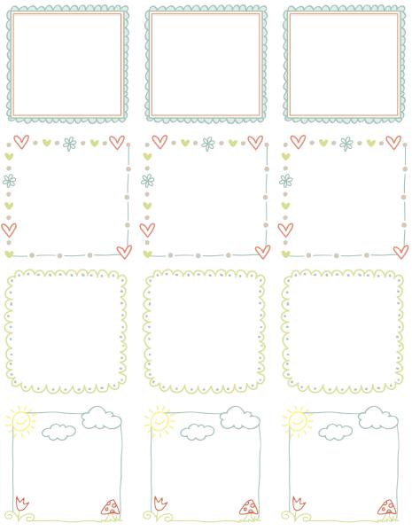 Printable Doodle Borders Labels By Inktreepress Free Printable Labels Templates Label Design Worldlabel Blog