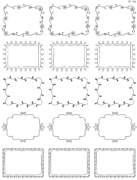 Printable Doodle Borders Labels By Inktreepress