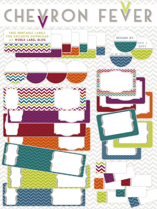 Chevron Fever Free Printable Labels Worldlabel Blog
