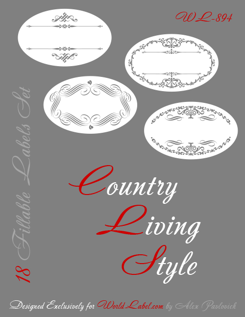 printable oval labels  u2013 free template set