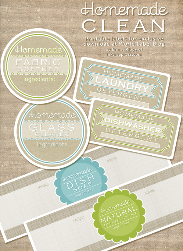 diy homemade clean free label printables and recipes With diy product labels