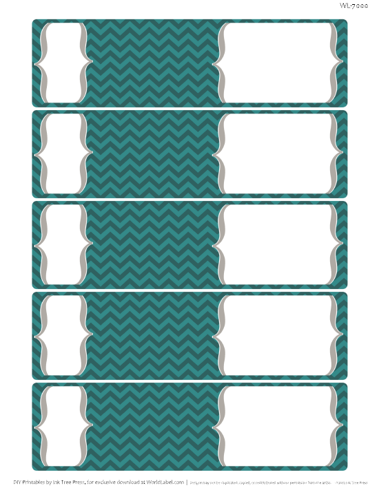 chevron fever free printable labels