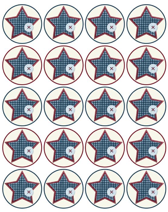 printable americana holiday labels