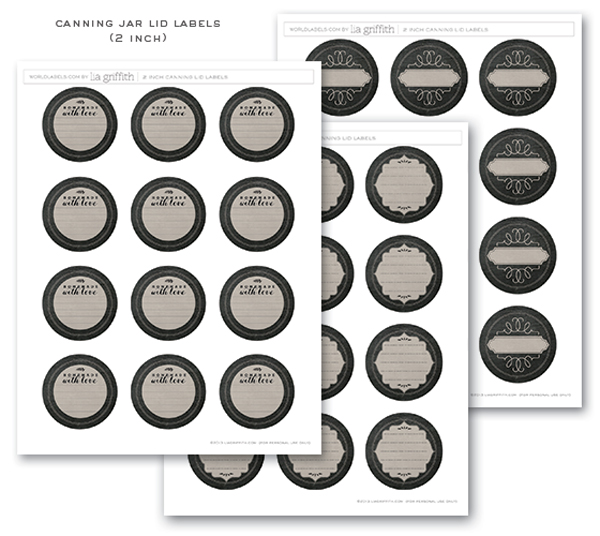 photo about Free Printable Mason Jar Lid Labels titled Chalkboard Canning Freezer Labels through Lia Griffith No cost