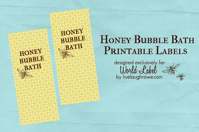 Printable Honey Bubble Bath Labels