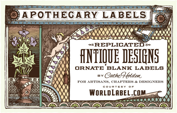 photo regarding Free Printable Vintage Apothecary Labels named Ornate Apothecary Blank Labels by means of Cathe Holden Absolutely free