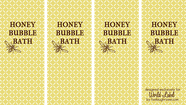 bubble bath labels