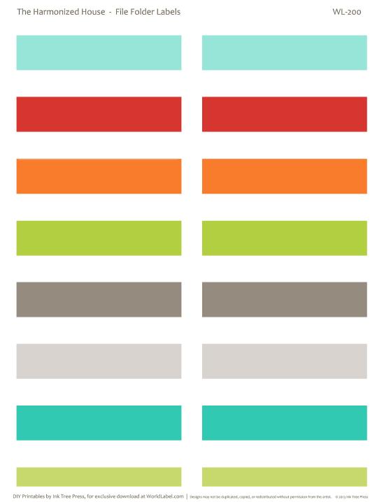 File Folder Labels Wl200