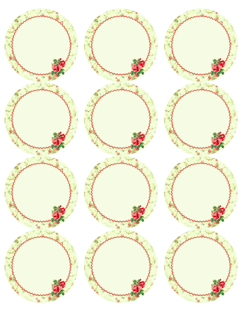 Free Vintage Rose Label Printables by Rachel Birdsell