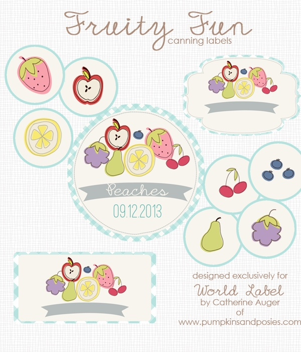 free label templates for mac - cute fruity fun free canning label printables