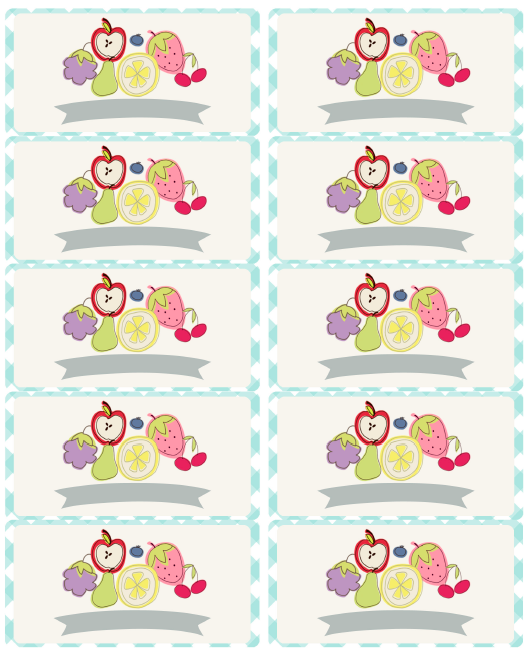 Cute Fruity Fun Free Canning Label Printables -:)