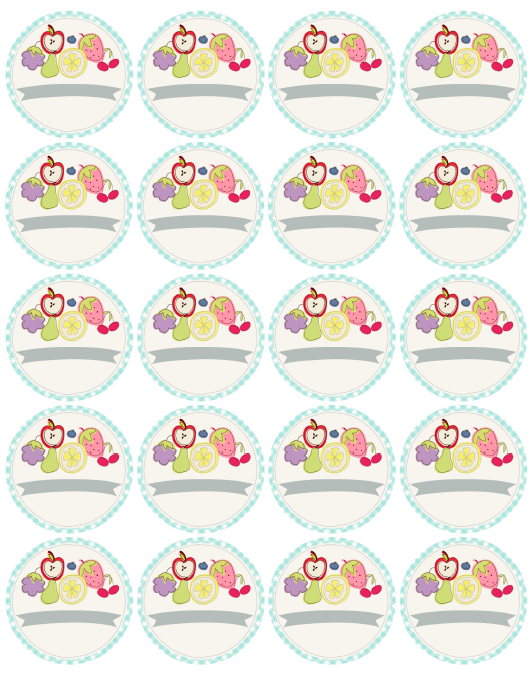 Cute Fruity Fun Free Canning Label Printables